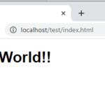 HTMLで「Hello World」を表示してみよう